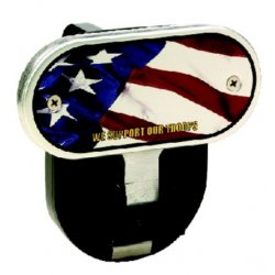 DefenderWorx - 10400 - American Flag - Image Line - 2 Inch Fold Down Step Hitch