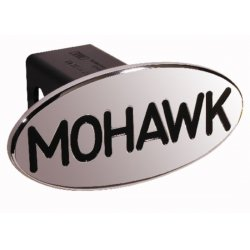 DefenderWorx - 24003 - Mohawk - Black - Oval - 2 Inch Billet Hitch Cover