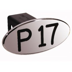 DefenderWorx - 24007 - P17 - Black - Oval - 2 Inch Billet Hitch Cover