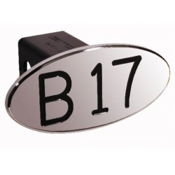 DefenderWorx - 24017 - B17 - Black - Oval - 2 Inch Billet Hitch Cover
