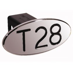 DefenderWorx - 24028 - T28 - Black - Oval - 2 Inch Billet Hitch Cover