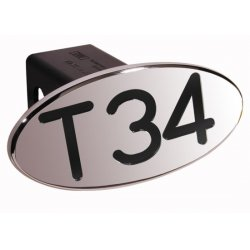 DefenderWorx - 24034 - T34 - Black - Oval - 2 Inch BIllet Hitch Cover