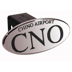 DefenderWorx - 24100 - CNO Chino Airport - Black - Oval - 2 Inch Billet Hitch Cover