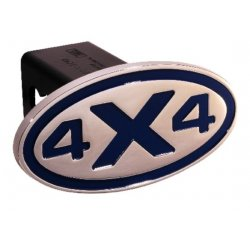 DefenderWorx - 25131 - 4 X 4 - Blue - Oval - 2 Inch Billet Hitch Cover
