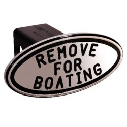 DefenderWorx - 25213 - Remove for Boating - Black - Oval - 2 Inch Billet Hitch Cover