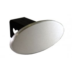 DefenderWorx - 25221 - Blank - Brushed - Oval - 2 Inch Billet Hitch Cover