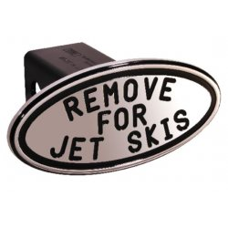 DefenderWorx - 25223 - Remove for Jet Skiis - Black - Oval - 2 Inch Billet Hitch Cover