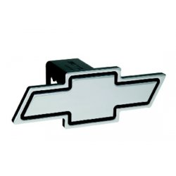 DefenderWorx - 30003 - Chevy - Black - Cutout Bowtie - 2 Inch Billet Hitch Cover