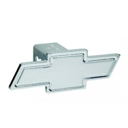 DefenderWorx - 30004 - Chevy - Polished - Cutout Bowtie - 2 Inch Billet Hitch Cover