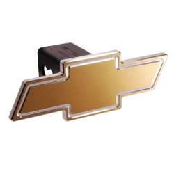 DefenderWorx - 30005 - Chevy - Gold - Cutout Bowtie - 2 Inch Billet Hitch Cover