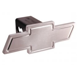 DefenderWorx - 30014 - Chevy - Polished - Heavyweight - Cutout Bowtie - 2 Inch Billet Hitch Cover
