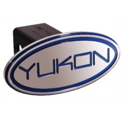 DefenderWorx - 33001 - GMC - Yukon - Blue - Oval - 2 Inch Billet Hitch Cover