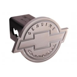 DefenderWorx - 36004 - Chevy - Genuine Chevrolet - Polished - Round - 2 Inch Billet Hitch Cover