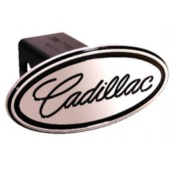 DefenderWorx - 38003 - GMC - Cadillac - Black - Oval - 2 Inch Billet Hitch Cover