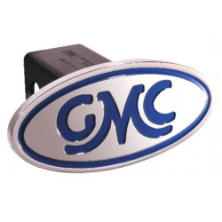 DefenderWorx - 40001 - GMC - Inscribed GMC Classic - Blue - Oval - 2 Inch Billet Hitch Cover