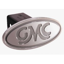 DefenderWorx - 40004 - GMC - Inscribed GMC Classic - Silver - Oval - 2 Inch Billet Hitch Cover