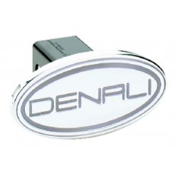 DefenderWorx - 41004 - GMC - Denali - Silver - Oval - 2 Inch Billet Hitch Cover