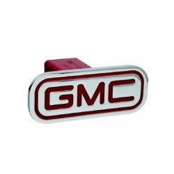 DefenderWorx - 50002 - GMC - Inscribed GMC - Red - Rectangle - 2 Inch Billet Hitch Cover