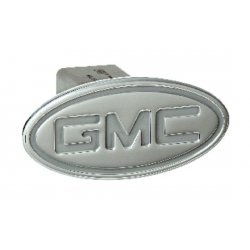 DefenderWorx - 51004 - GMC - Inscribed GMC - Silver - Oval - 2 Inch Billet Hitch Cover