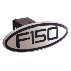 DefenderWorx - 60153 - Ford - F-150 - Black - Oval - 2 Inch Billet Hitch Cover