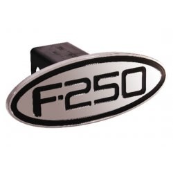 DefenderWorx - 60253 - Ford - F-250 - Black - Oval - 2 Inch Billet Hitch Cover