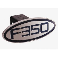 DefenderWorx - 60351 - Ford - F-350 - Blue - Oval - 2 Inch Billet Hitch Cover