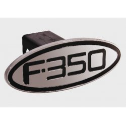 DefenderWorx - 60353 - Ford - F-350 - Black - Oval - 2 Inch Billet Hitch Cover