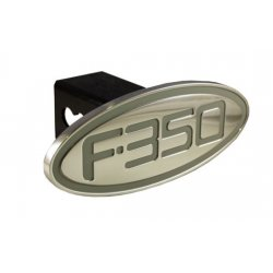 DefenderWorx - 60354 - Ford - F-350 - Silver - Oval - 2 Inch Billet Hitch Cover