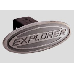DefenderWorx - 61004 - Ford - Explorer - Silver - Oval - 2 Inch Billet Hitch Cover