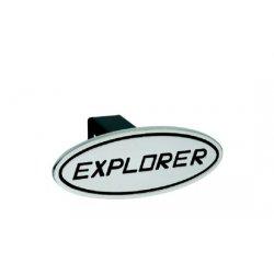 DefenderWorx - 61013 - Ford - Explorer - Black - Oval - 1-1/4 Inch Billet Hitch Cover