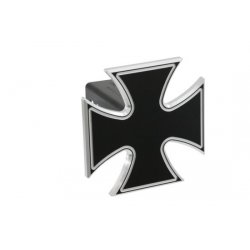 DefenderWorx - 61062 - Iron Cross - Black - 2 Inch Billet Hitch Cover
