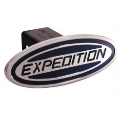 DefenderWorx - 62001 - Ford - Expedition - Blue - Oval - 2 Inch Billet Hitch Cover