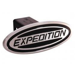 DefenderWorx - 62003 - Ford - Expedition - Black - Oval - 2 Inch Billet Hitch Cover