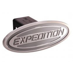 DefenderWorx - 62004 - Ford - Expedition - Silver - Oval - 2 Inch Billet Hitch Cover