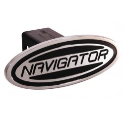 DefenderWorx - 63003 - Ford - Navigator - Black - Oval - 2 Inch Billet Hitch Cover