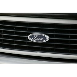 DefenderWorx - 98201 - Ford - Blue - Oval Small - Billet Tailgate Emblem - Fits 97-up