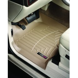 WeatherTech - 453581-45027-2-3 - 2005 - 2007 Chrysler Town & Country Van Tan Complete Set (1st 2nd & 3rd Row) FloorLiner