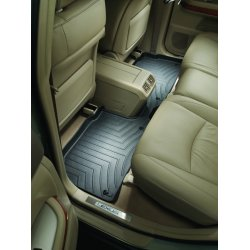 WeatherTech - 443332 - 2011 Porsche® Cayenne® Black 2nd Row FloorLiner