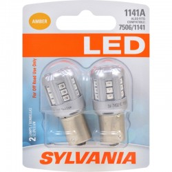 Osram - 1141ASL.BP2 - SYLVANIA 1141 Amber LED Bulb (Pack of 2)