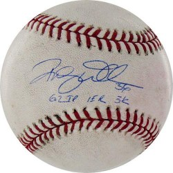 Steiner Sports - 2010105504039RW - Randy Wells Signed Rockies at Cubs 5-17-2010 Game Used Baseball w/ 62 IP 1 ER 3 K Insc MLB Auth