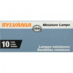 Osram - 105.TP - SYLVANIA 105 Basic Miniature Bulb, (Pack of 10)