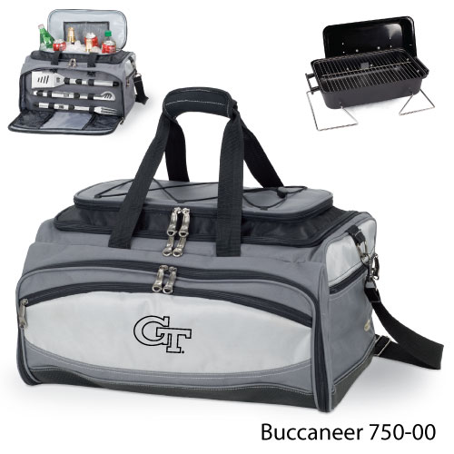 Picnic Time - 750-00-175-192-0 - Georgia Tech Embroidered Buccaneer Cooler Grey/Black