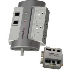 Panamax - M4TEX+MODAT4 - Panamax M4T-EX 4 Outlet Surge Protector with Panamax Module Protect MOD AT4