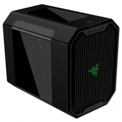 Antec - CUBE-DESIGNED BY RAZER - Case Cube-Designed By Razer Mini ITX Cube Desktop 0/0/(1) Bays USB 3.0 Audio Retail