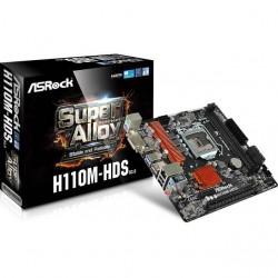ASRock - H110M-HDS R3.0 - ASRock H110M-HDS R3.0 LGA1151/ Intel H110/ DDR4/ SATA3&USB3.0/ A&GbE/ MicroATX Motherboard