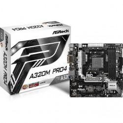 ASRock - A320M PRO4 - ASRock A320M PRO4 Socket AM4/ AMD A320/ DDR4/ SATA3&USB3.0/ M.2/ A&GbE/ MicroATX Motherboard