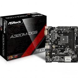 ASRock - A320M-DGS - ASRock A320M-DGS Socket AM4/ AMD A320/ DDR4/ SATA3&USB3.0/ M.2/ A&GbE/ MicroATX Motherboard