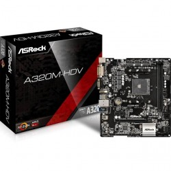 ASRock - A320M-HDV - ASRock A320M-HDV Socket AM4/ AMD A320/ DDR4/ SATA3&USB3.0/ M.2/ A&GbE/ MicroATX Motherboard