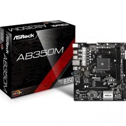 ASRock - AB350M - ASRock AB350M Socket AM4/ AMD B350/ DDR4/ SATA3&USB3.0/ M.2/ A&GbE/ MicroATX Motherboard