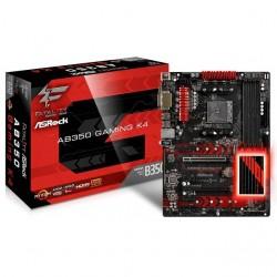 Asrock - Ab350 Gaming K4 - Asrock Fatal1ty Ab350 Gaming K4 Socket Am4/ Amd B350/ Ddr4/ Sata3&usb3.0/ M.2/ A&gbe/ Atx Motherboard